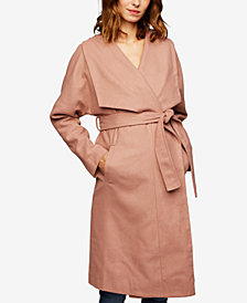 A Pea In The Pod Maternity Shawl-Collar Wool Coat