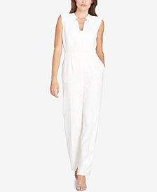 Tahari ASL Split-Neck Jumpsuit
