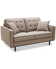 "CLOSEOUT! Tianah 63"" Fabric Loveseat, Created for Macy's"