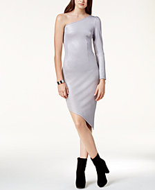 Glam by Glamorous One-Shoulder Asymmetrical Dress, Created for Macy's