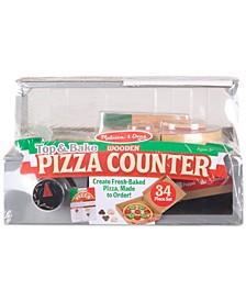 Melissa & Doug Top & Bake Wooden Pizza Counter Set