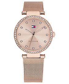 Women's Rose Gold-Tone Stainless Steel Mesh Bracelet Watch 32mm
