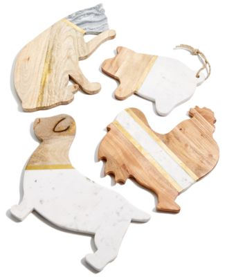 CLOSEOUT! Pig Marble & Wood Serving Board