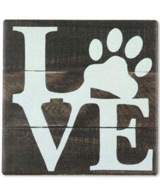Love Pets Blue Coaster