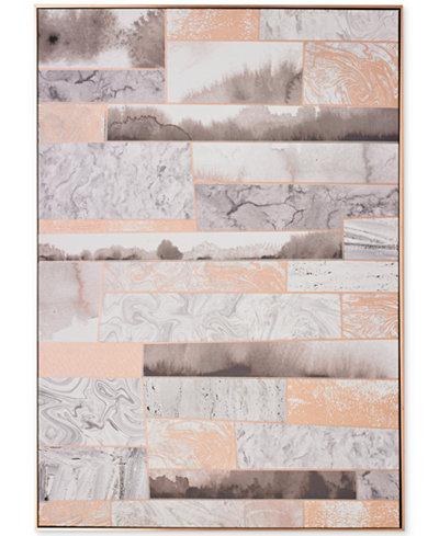 Graham & Brown Rose Quartz Dimension Wall Art