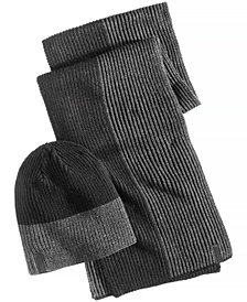 Calvin Klein Men's Colorblocked Hat & Scarf Set