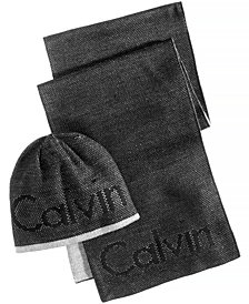 Calvin Klein Men's Spot Mesh Hat & Scarf Set