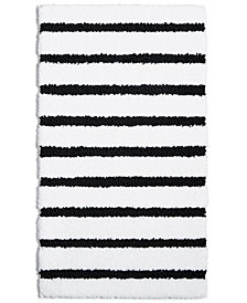"LAST ACT! Charter Club Elite Stripe 19.3"" x 34"" Fashion Bath Rug, Created for Macy's"