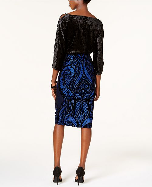 4c0599dd ECI Cable & Gauge Cutout-Sleeve Top & Flocked Skirt & Reviews ...