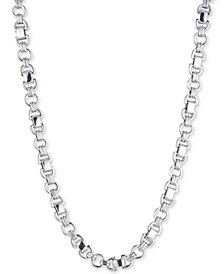 DKNY Silver-Tone D-Link Collar Necklace, Created for Macy's