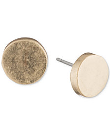 Dkny Silver Tone Circle Stud Earrings Created For Macy S