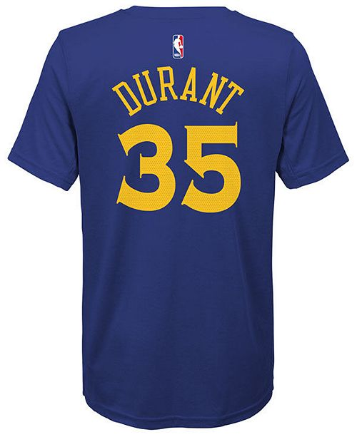 Nike Kevin Durant Golden State Warriors Icon Name & Number T-Shirt, Big Boys