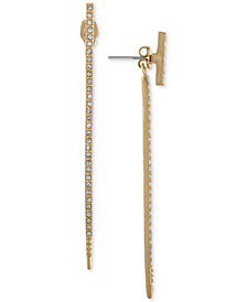 RACHEL Rachel Roy Gold-Tone Pavé Stick Linear Drop Earrings