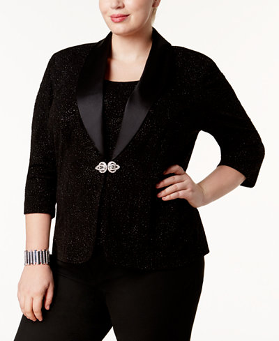 Alex Evenings Plus Size Embellished Jacket & Shell