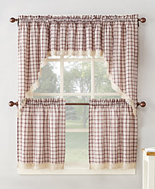 Lichtenberg No. 918 Maisie Plaid Kitchen Curtain Pairs & Valances