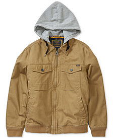 Billabong Men's Barlow Twill Full-Zip Hooded Jacket