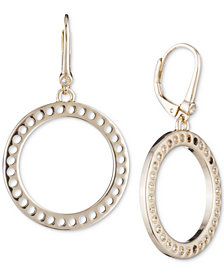 DKNY Perforated Open Circle Drop Earrings, Created for Macy's
