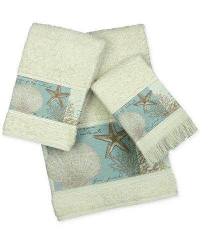 Bacova Coastal Moonlight Cotton Printed Bath Towel