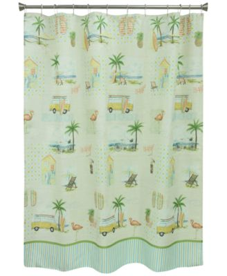 "Shorething 70"" x 72"" Graphic-Print Shower Curtain"