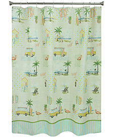 "Bacova Shorething 70"" x 72"" Graphic-Print Shower Curtain"