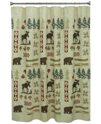 "North Ridge 70"" x 72"" Graphic-Print Shower Curtain"