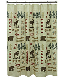 "Bacova North Ridge 70"" x 72"" Graphic-Print Shower Curtain"