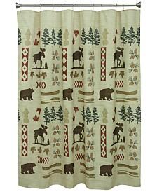 "Bacova North Ridge 70"" x 72"" Graphic-Print Shower Curtain"