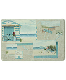 "Bacova Beach Cruiser 20"" x 33"" Graphic-Print Memory Foam Bath Rug"