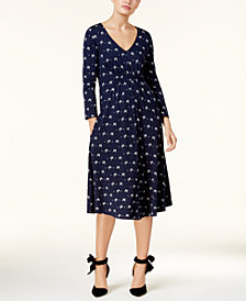 Weekend Max Mara Klausen Bow-Print Midi Dress