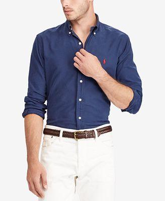 Polo Ralph Lauren Men S Slim Fit Oxford Shirt Reviews Casual