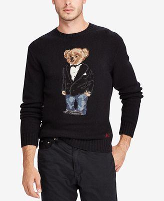 Polo Ralph Lauren Mens Polo Bear Sweater Sweaters Men Macys