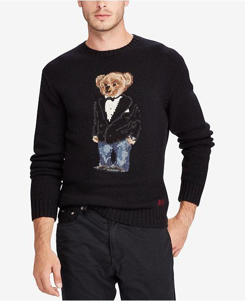 Polo Ralph Lauren Men S Polo Bear Sweater Sweaters Men