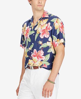 Polo Ralph Lauren Men S Floral Print Shirt Casual Button