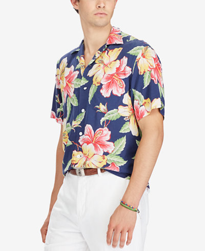 Polo Ralph Lauren Men's Floral-Print Shirt - Casual Button-Down ...