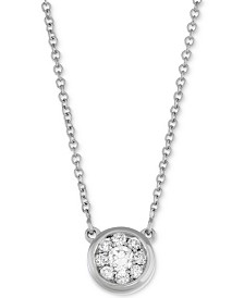 Diamond Cluster Pendant Necklace (1/4 ct. t.w.) in 14k White Gold