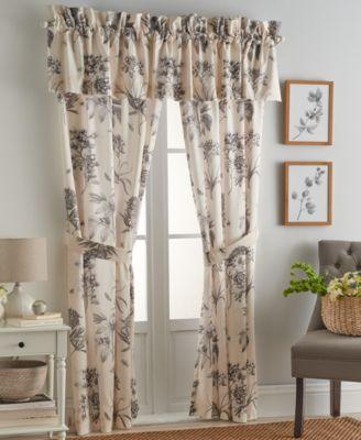 Etching & Roses Window Valance