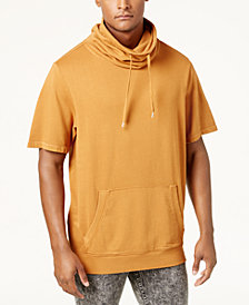 GUESS Men's Funnel-Neck Short-Sleeve Sweatshirt