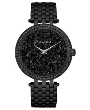 Designed by Bulova Women's Black Stainless Steel Bracelet Watch 38mm