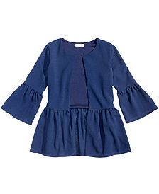 Monteau Peplum Jacket Blazer, Big Girls