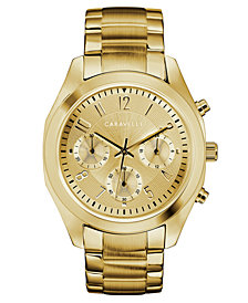 Caravelle Women's Gold-Tone Stainless Steel Bracelet Watch 36mm