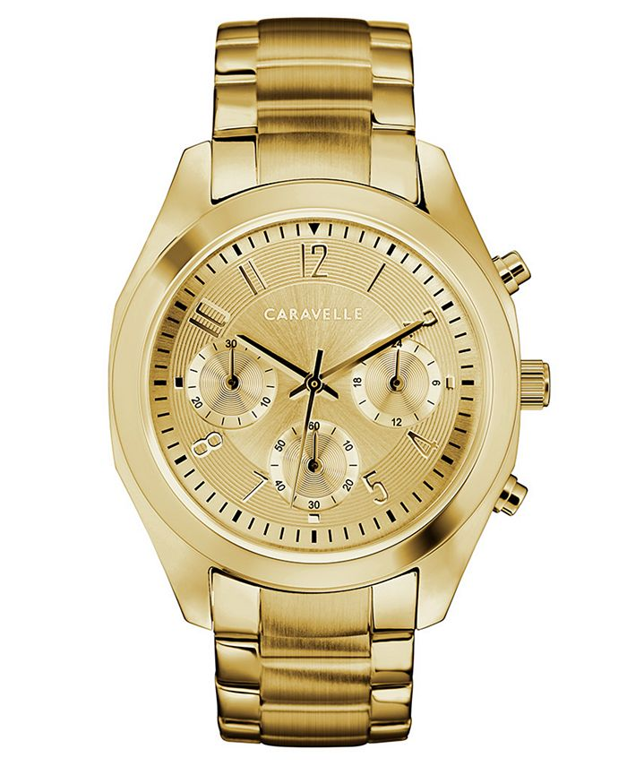 Caravelle - Women's Gold-Tone Stainless Steel Bracelet Watch 36mm