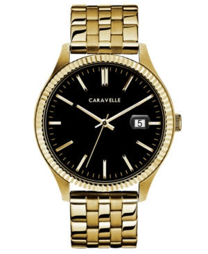 Designed by Bulova Men's Gold-Tone Stainless Steel Bracelet Watch 41mm