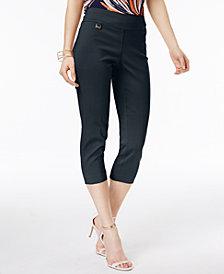 Alfani Tummy-Control Pull-On Capri Pants, In Regular and Petite, Created for Macy's