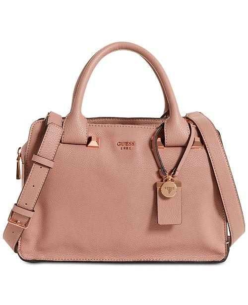 95ea3958b4ad GUESS Talan Large Top Handle Satchel   Reviews - Handbags ...