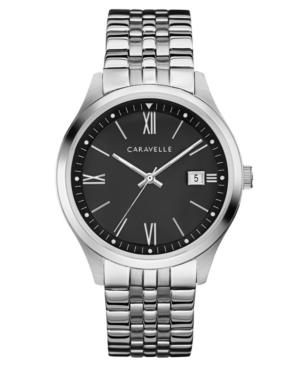 Designed by Bulova Men's Stainless Steel Bracelet Watch 41mm