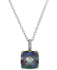 Mystic Topaz (3-1/2 ct. t.w.) & Diamond Accent Pendant Necklace in Sterling Silver