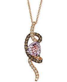 Le Vian Chocolatier® Grape Amethyst™ (1-3/4 ct. t.w.) & Diamond (1/2 ct. t.w.) Pendant Necklace in 14k Rose Gold