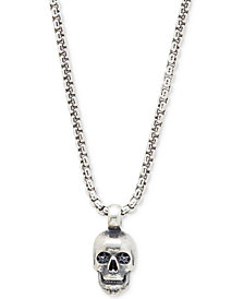 DEGS & SAL Men's Skull Pendant Necklace in Sterling Silver