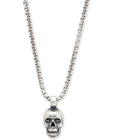 Degs sal mens skull pendant necklace in sterling silver degs sal mens skull pendant necklace in sterling silver mozeypictures Images
