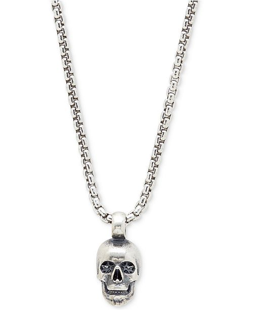 988a67b9330d8 DEGS & SAL Men's Skull Pendant Necklace in Sterling Silver & Reviews ...